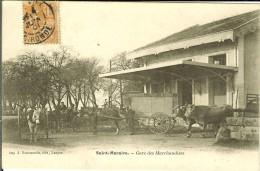 CPA SAINT-MACAIRE Gare Des Marchandises 10773 - France