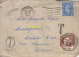 OUDE BRIEF VAN SCHOTLAND SCOTLAND GLASGOW  NAAR MOERBEKE WAAS TAX  1945 - Belgique