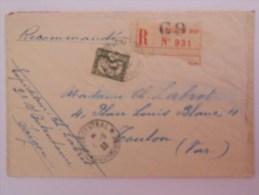 Indochine Lettre Recommande De Saigon 1933 Pour Toulon