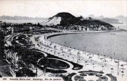 RIO DE JANEIRO Avenida Beira-mar Botafogo, Karte Gel. Vor 1900, 100 Reis Frankierung - Rio De Janeiro