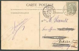N°83 -1 Centime Obl. Sc Relais De BORSBEKE (FLANDRES) * S/C.V. Du 28 Septembre 1909 Vers Tournay (biffé) Réexpédié Vers - Postmarks With Stars