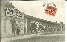 CPA LANGON Fabrique De Barriques G. CAZENAVE 10784 - Langon