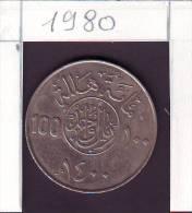 Arabia Saudita 100 Halala Anno 1980 Moneta Circolata - Arabia Saudita
