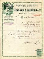 59.NORD.LILLE.MANUFACTURE DE BONNETERIE.M.MOSER,E.FAUQUET & Cie.113 RUE PIERRE LEGRAND - Textile & Vestimentaire