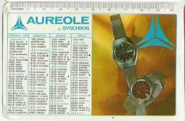 CALENDARIETTO PLASTIFICATO  PUBBLICITARIO AUREOLE  By SYNCHRON OROLOGI ANNO 1978 - Calendari
