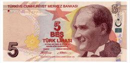TURKEY 5 LIRA 2009 Pick 222a Unc - Turkey