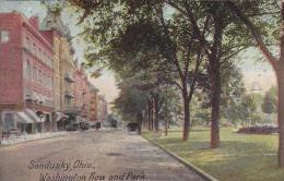 Ohio Sandusky Washington Row And Park 1910