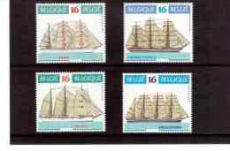 XX31  -    BELGIO     -    NEW **  COMPLET  SET  - CAT.UNIFICATO   Nr.    2608/2611 - Schiffe