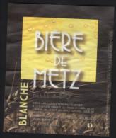 Etiquette Bière Beer Label France Bière De Metz Blanche Belle & Bio - Bier
