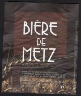 Etiquette Bière Beer Label France Bière De Metz Brune Belle & Bio - Bier