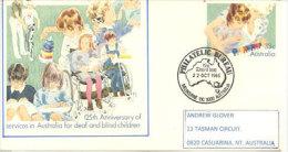 Entier Postal, Service National D'aide Aux Sourds & Muets, Adressé Au Territoire Du Nord. - Handicaps