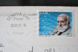 STORIA POSTALE FRANCOBOLLO STAMP COMMEMORATIVO ALTIERO SPINELLI ANDORA SAVONA - Savona