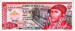 * MESSICO MEXICO MEXIKO - 29/12/1972 - 20 Pesos - P. 64 A - México