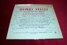 AUTOGRAPHES SUR DISQUE 45 TOURS °  HENRI TISOT - Autogramme