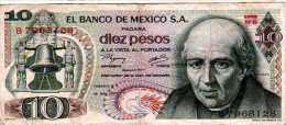 * MESSICO MEXICO MEXIKO - 18/02/1977 - 10 Pesos - P. 63 I - México