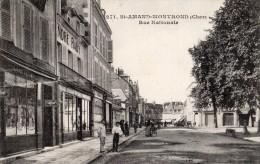 SAINT-AMAND-MONTROND RUE NATIONALE COMMERCES - Saint-Amand-Montrond