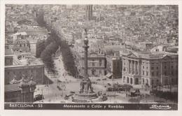 Espagne - Barcelona - Monumento A Colon Y Ramblas - Barcelona