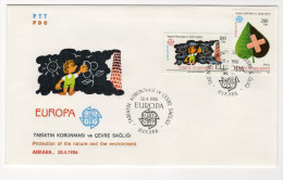 EUROPA CEPT TURKEY,TURQUIE,TURKEI, 1986 FDC - Unclassified