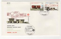 EUROPA CEPT TURKEY,TURQUIE,TURKEI, 1987 FDC - Unclassified