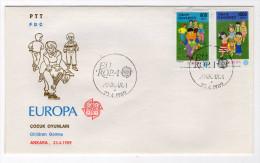 EUROPA CEPT TURKEY,TURQUIE,TURKEI, 1989 FDC - Unclassified