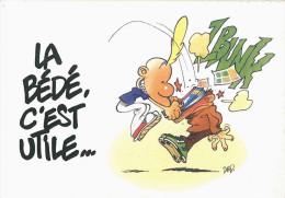 BD -  La Bédé, C´est Utile... (Titeuf) - Série De 5 Cartes Illustrées Voir Scans - Cómics