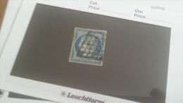 LOT 222309 TIMBRE DE FRANCE OBLITERE N�4 VALEUR 45 EUROS