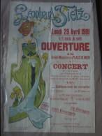 Superbe affiche ancienne Leonhard TIETZ Anvers 1901 Art Nouveau