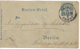Germany - Berlin (o) 26.10.93   Karten-Brief - Private