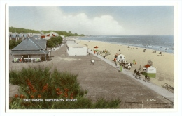 1930/50s Scotland Broughty Ferry Dundee The Sands Pc Unused Valentines Carbo Colour - Angus