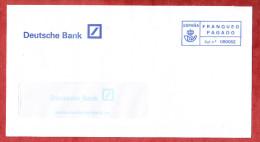 Brief, Deutsche Bank, Barfrankaturaufdruck (59996) - Poststempel - Freistempel