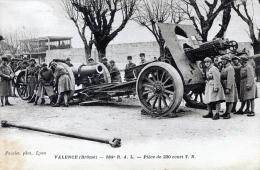 C433 Cpa 26 Valence - 184 R.A.I, Pièce De 220 Court T.R - Valence