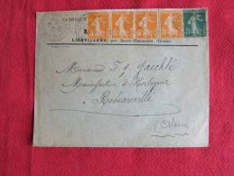 ENVELOPPE PUBLICITAIRE MARCEL BURON À LIEBVILLERS (25190), TIMBRÉE ET DATÉE 1921. - Briefe U. Dokumente