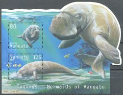 132 VANUATU 2002 - Faune Marine Le Dugong (Yvert BF 45) Neuf ** (MNH) Sans Trace De Charniere - Vanuatu (1980-...)