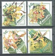 132 VANUATU 2002 - Fleur Orchidee (Yvert 1143/46) Neuf ** (MNH) Sans Trace De Charniere - Vanuatu (1980-...)
