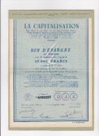 CARNET DE 2 TITRES  LA CAPITALISATION  ETAT NEUF - Shareholdings