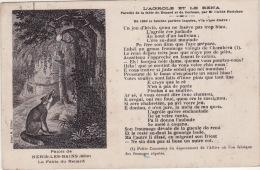 """NERIS -  La Fable Du Renard """" L'Agrole Et Le Rena """" - Neris Les Bains"""