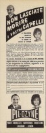 # PIL-OZYNE LOZIONE CAPELLI, ITALY 1950s Advert Pubblicità Publicitè Reklame Hair Cheveux Haar Beautè - Perfume & Beauty