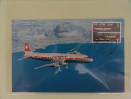 CARTE MAXIMUM MAXIMUM CARD  AVION DC 71959 SUISSE - Cartoline Maximum