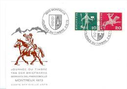 """22507 - Carte Avec Oblit Spéciale """"Journée Du Timbre 1973 Montreux"""" - Poststempel"""