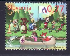 2248/ Slowenien Slovenia 2014  Mi.No. 1065 ** MNH Scouts Pfadfinder Animals Natur Tier Kanu Kinder Animal Canoe Children - Sonstige
