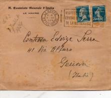 1926 LETTERA CON ANNULLO LE HAVRE - Storia Postale