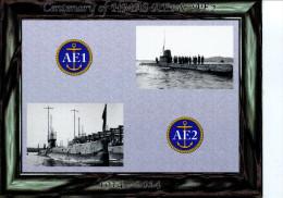 (999) Australia - Maxi-card - Maximum Card -  Australia - Loss Of AE 1 Submarine Centenary (14th Sept 1914) - China