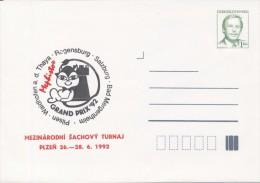 J0882 - Czechoslovakia / Postal Stationery (1992) V. Havel: International Chess Tournament Mephisto GRAND PRIX '92 - Scacchi