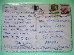 "USA 1981 Postcard ""Capitol Minnesota St. Paul"" To Jersey U.K. - Frederick Douglass - Ballot Elections Vote - Lettres & Documents"