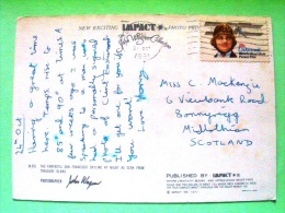 "USA 1981 Postcard ""San Francisco Skyline"" To Scotland U.K. - Blanche Stuart And Plane - Lettres & Documents"