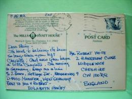 "USA 1982 Postcard ""Hyatt Hotel Charleston"" To England - Mountain Goat - Etats-Unis"