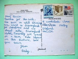 "USA 1982 Postcard ""tram Car In Palm Springs California"" To England - Washington - Election Ballot - Flag - Lettres & Documents"