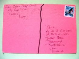 "USA 1988 Postcard ""children Drawing"" Dallas To England - Bird - Etats-Unis"
