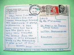 "USA 1988 Postcard ""Jones Beach"" Jamaica N.Y. To England - Igor Stravinsky Musci - Truman - Julia Ward Howe - Etats-Unis"