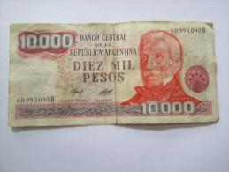 10.000 DIEZ MIL PESOS REPUBLICA ARGENTINA 60993090D - Argentine